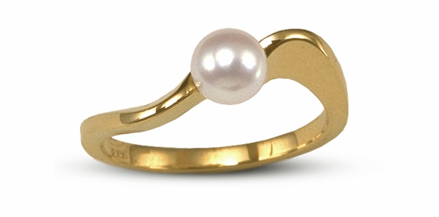 Infinity a Japanese Akoya Cultured Pearl Ring