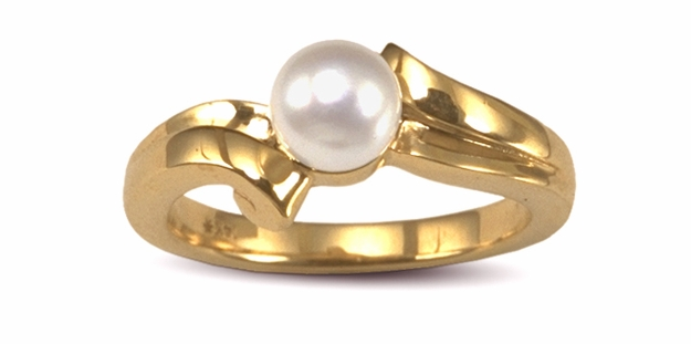 Ionic 2 a Japanese Akoya Pearl Ring