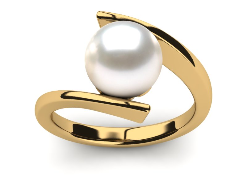 wholesale p ring rings pearl romantic round rose for women white plated gold