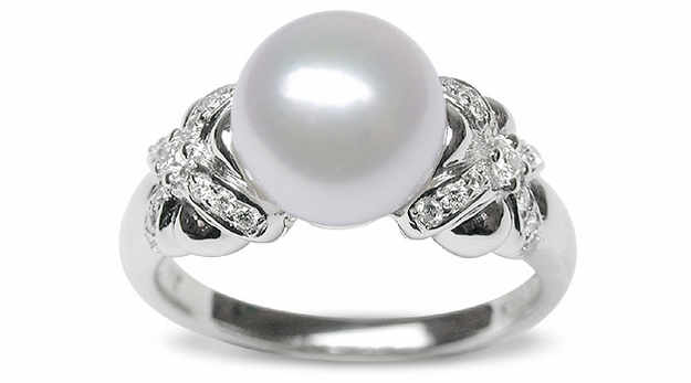Jobina a Japanese Akoya Cultured Pearl Ring