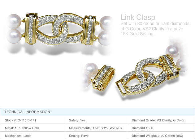 55bacdee78a0a Link Clasp a 18K Gold and Diamond Clasp
