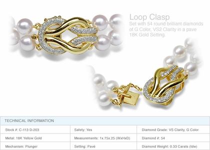 Loop Clasp a 18K Gold and Diamond Clasp