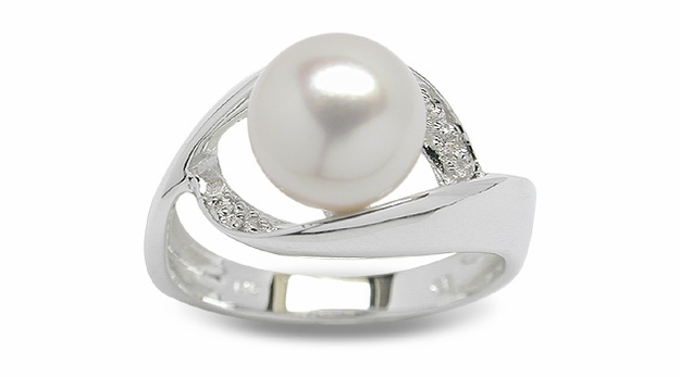Mindy a Japanese Akoya Cultured Pearl Ring