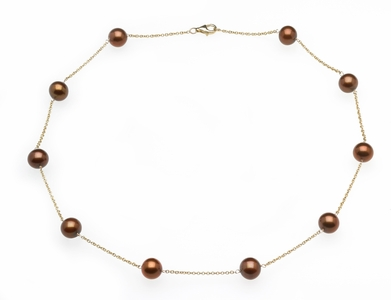 Mocha Tin Cup Necklace