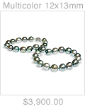 Multicolor 12x13mm Tahitian Pearl Necklace