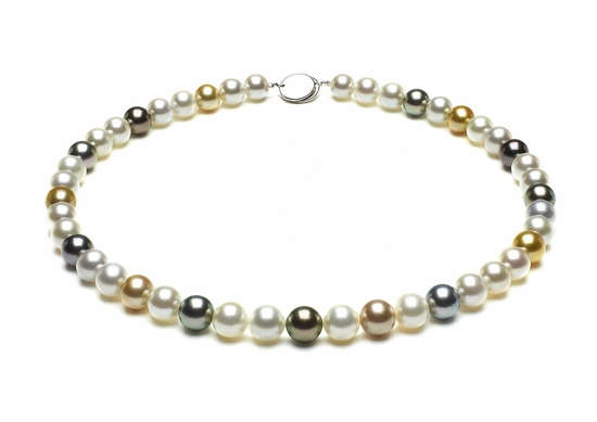 Multicolor South Sea Pearl Necklaces