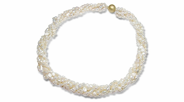 Multistrand Biwa Freshwater Pearl Necklace - 18/20 inches