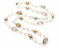 Opera Tin Cup Pearl Necklace