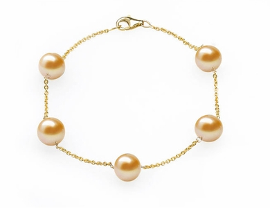 Peach Freshwater Tin Cup Bracelet