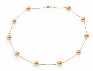 Peach Freshwater Tin Cup Necklace