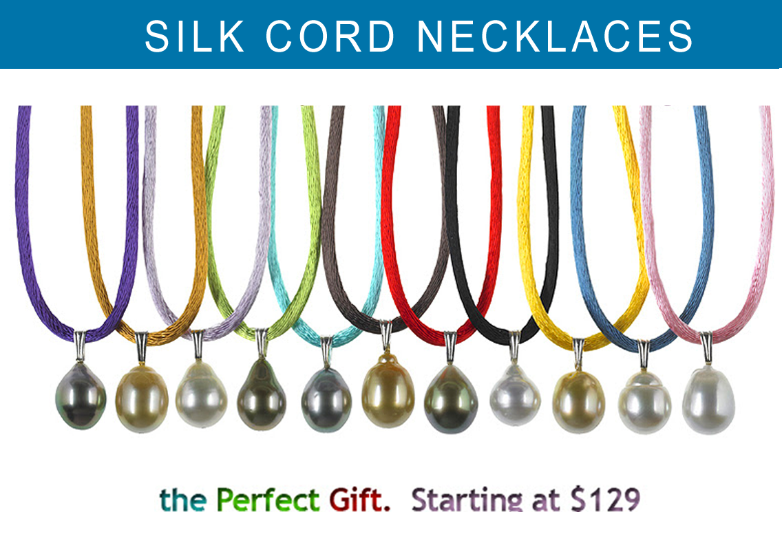 Pearl Silk Cord Necklaces