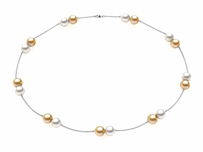 Pearl Twin Cup Necklace