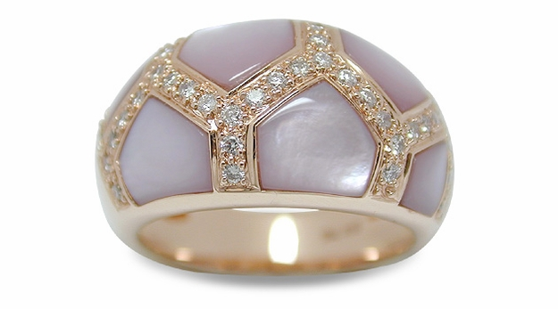 Pink Dragon a Mother of Pearl Ring