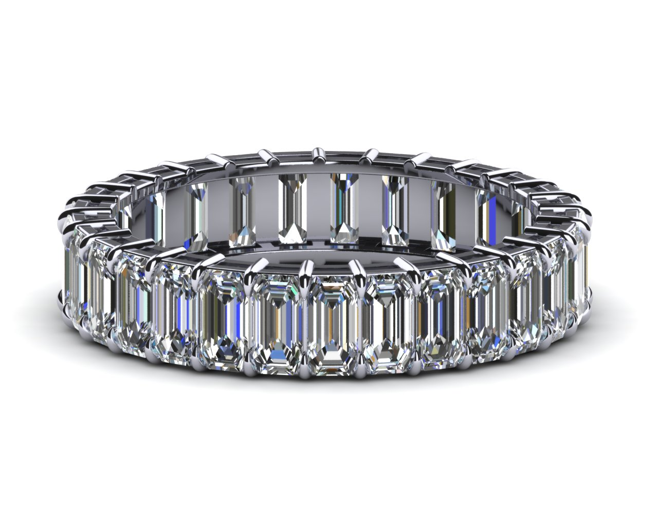Platinum Emerald Cut Diamond Eternity Band 3 Carats Tdw. Unusual Engagement Rings. Numberless Watches. Women's Bangle Bracelets. Wolf Head Pendant. Beaded Rings. Bmw Ball Watches. Colored Stone Rings. Square Medallion