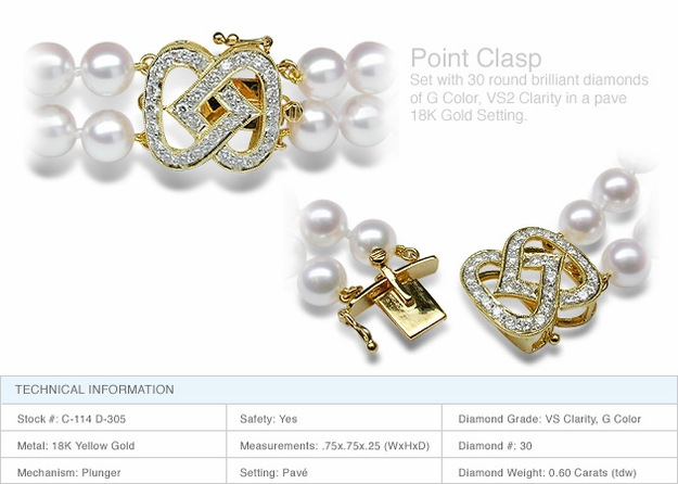Point Clasp a 18K Gold and Diamond Clasp