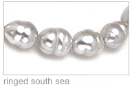 Ringed White Australian South Sea Cultured Pearl Necklace