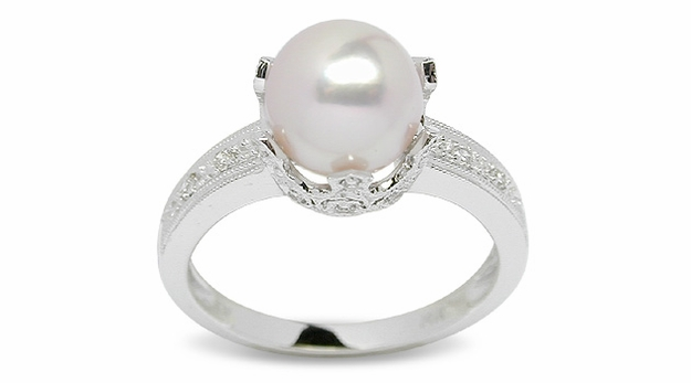 Romana a Japanese Akoya Cultured Pearl Ring