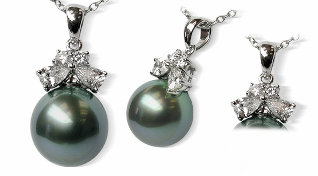 Siona Black Tahitian South Sea Pearl Pendant