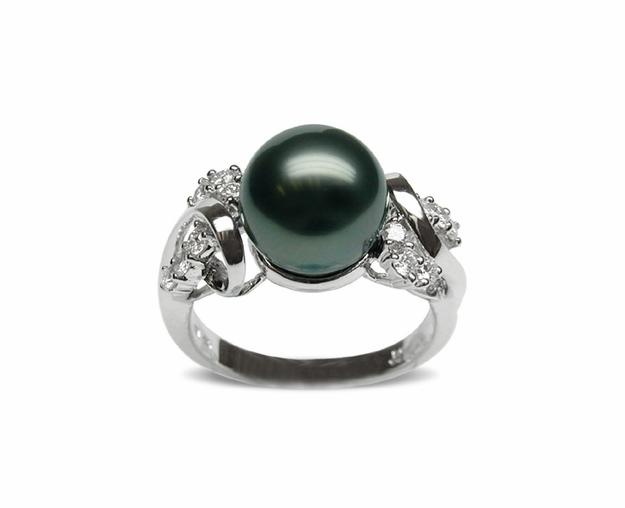 Sophia Black Tahitian Cultured Pearl Ring
