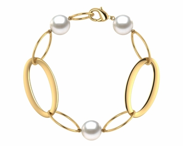 South Sea Pearl Circle of Life Bracelet