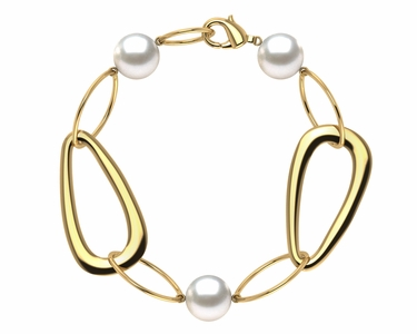South Sea Pearl Circle of Life Triangle Bracelet