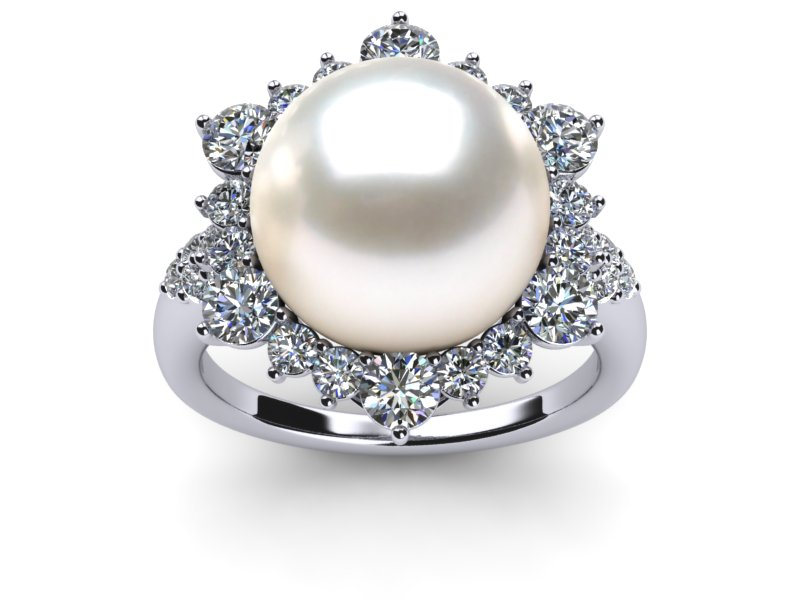 round gold t jewelry rings edmund ahee black diamond sea jewelers white south cut mikimoto and in ring pearl brilliant
