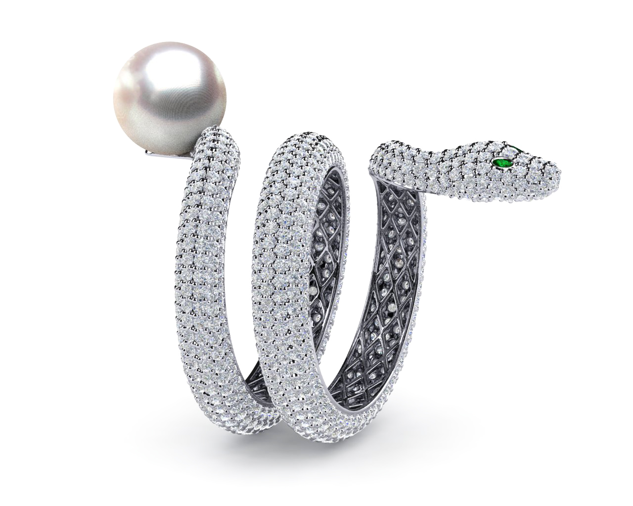 South Sea Pearl Snake Ring American Pearl