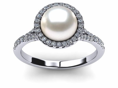 South Sea Pearl Unity Ring