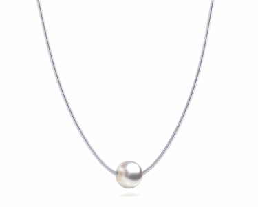 South Sea White Rose Pearl On Snake chain