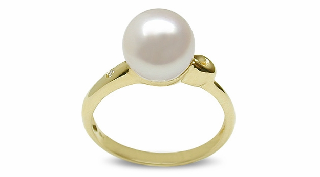 Spring Drop a Japanese Akoya Cultured Pearl Ring