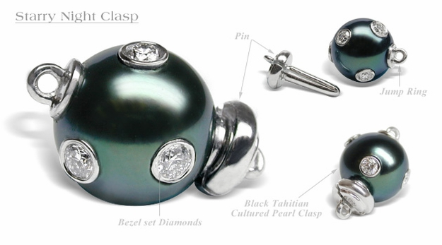 Starry Night South Sea Cultured Pearl Clasp