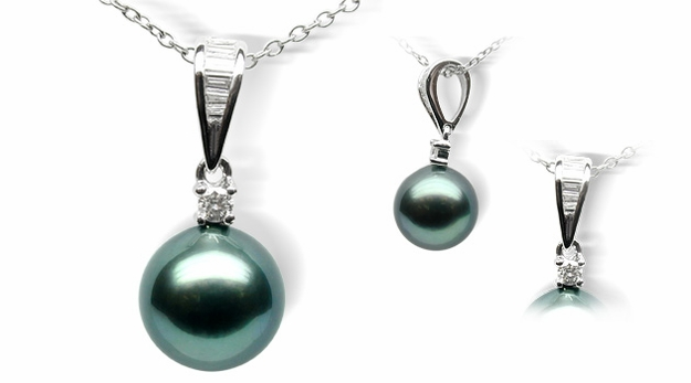 Stella Black Tahitian South Sea Cultured Pearl Pendant