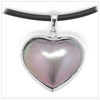 Sweetheart Lavender Mabe Pearl Pendant