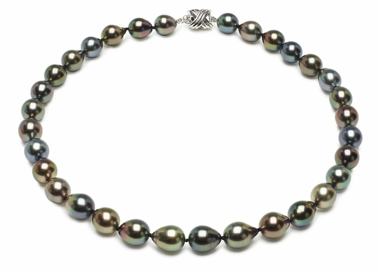 Tahitian Black Baroque South Sea Pearl Necklaces