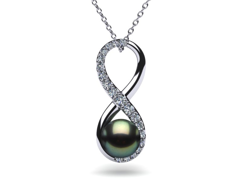 pendant gold diamond sea south tw ct white pearl