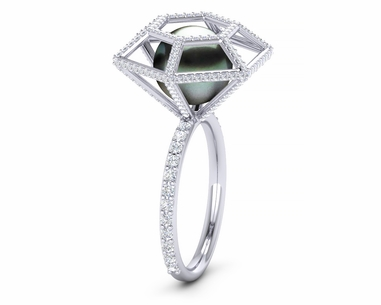 Tahitian Pearl Diamond Untouchable Ring