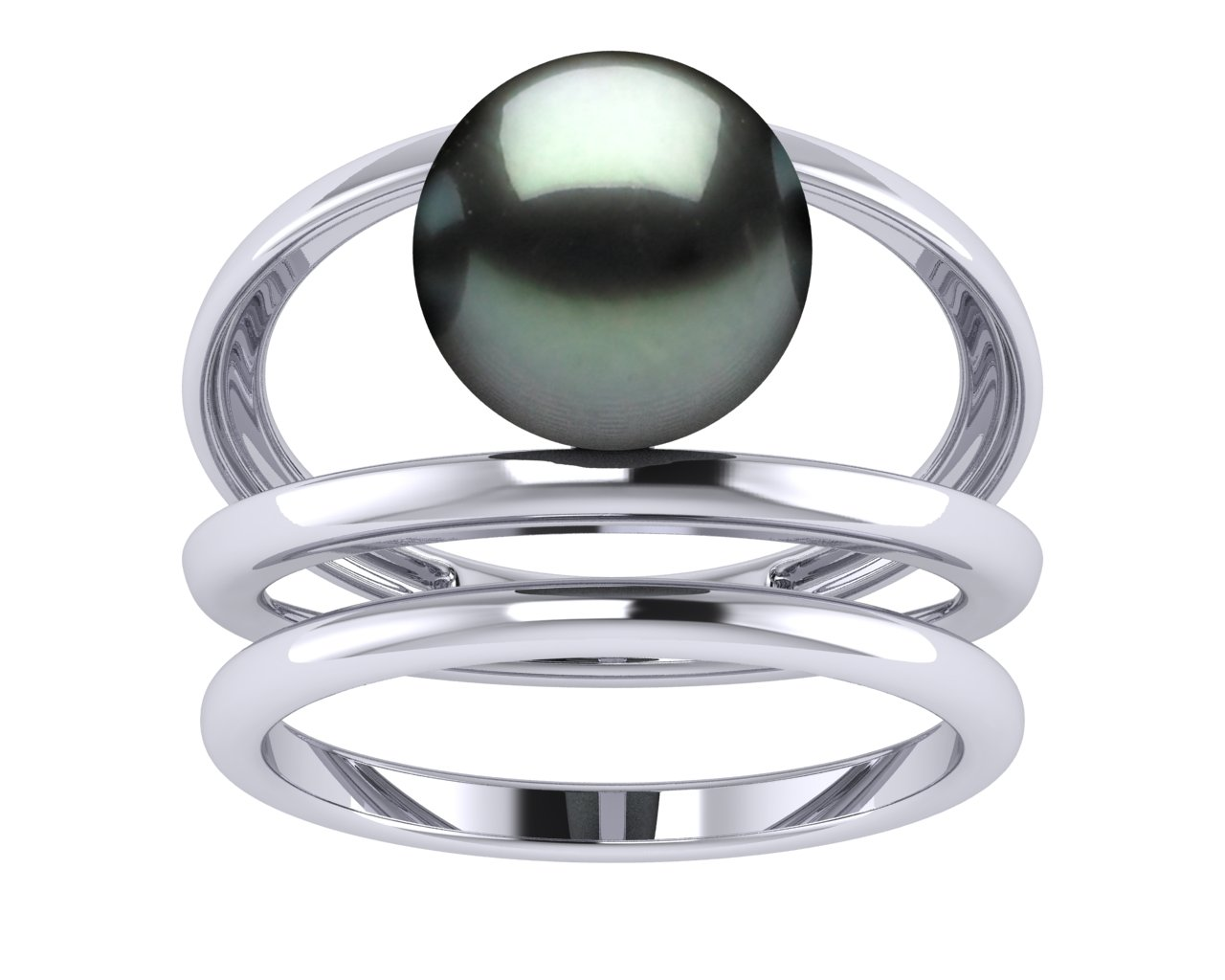tahitian pearl leo ii engagement ring and wedding band set