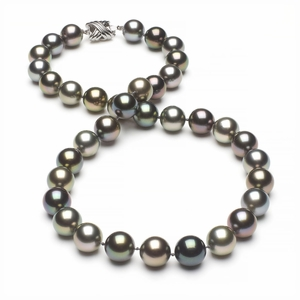 Tahitian Pearl Necklace Serial Number | 10mm10-5mm-tahitian-south-sea-multi-color-pearl-necklace-aaa-16inch-s4-xr07685m-b50
