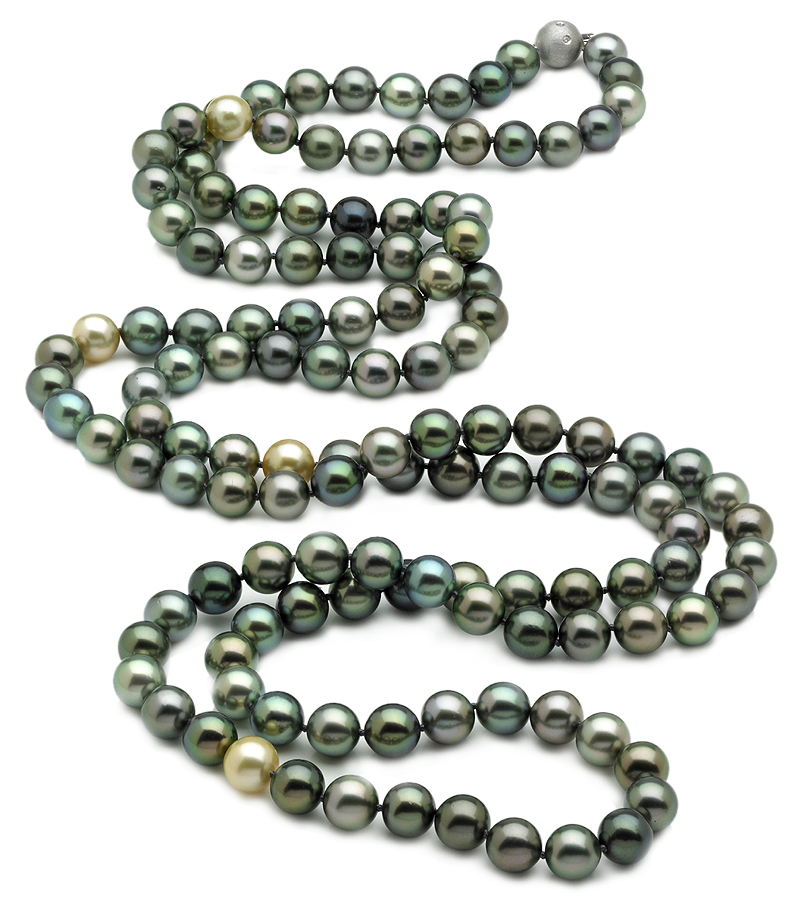 Tahitian Pearl Necklace Serial Number 9 X 10mm