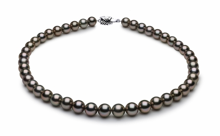 Tahitian Pearl Necklace with Free 14K Earring Serial Number | 9-9mmto8-2mm-tahitian-south-sea-pearl-necklace-true-aaa-16inch-s8-xb05913-b25