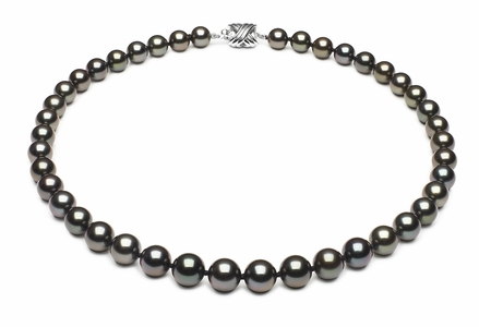 Tahitian Pearl Round Necklace Serial Number | 8mmto9-8mm-tahitian-south-sea-pearl-necklace-true-aaa-16inch-s7-xb03608-b8