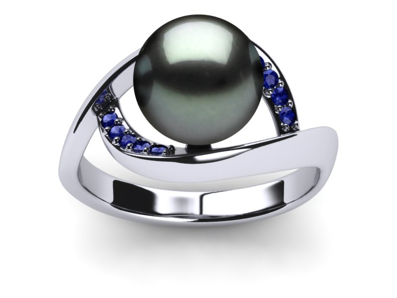 ring green pearl black light mindy cultured white sea style sapphire tahitian rings south gold