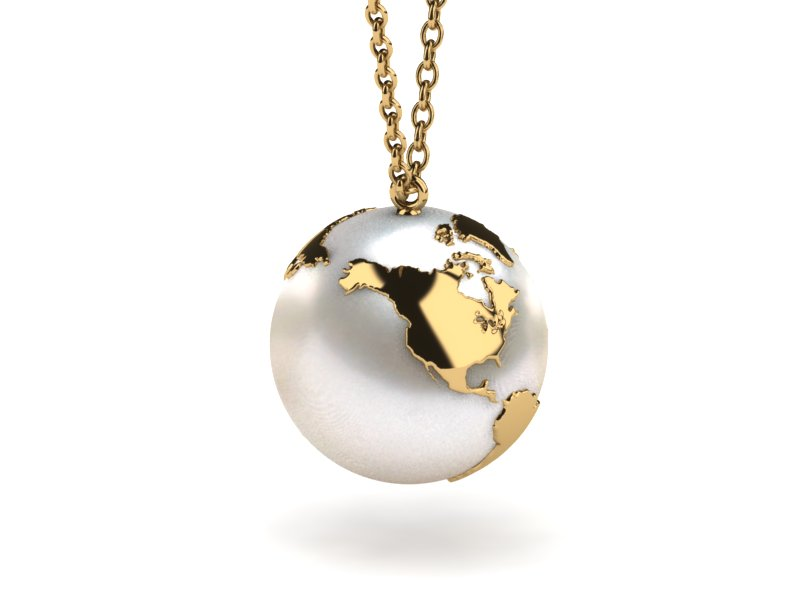 south sea eighteen gold carat ps pearl pendant