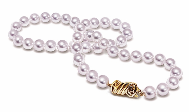 TRUE AAA Quality 7.5mm x 8 mm Japanese Akoya natural color Cultured Pearl Necklace