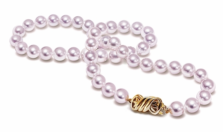 TRUE AAA Quality 8mm x 8.5 mm Japanese Akoya natural color Cultured Pearl Necklace