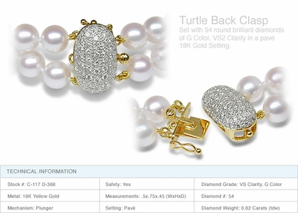 Turtle Clasp a 18K Gold and Diamond Clasp