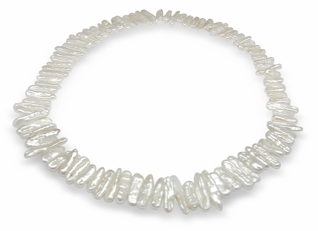 White Branch Shape Single Strand Freshwater Pearl Necklace