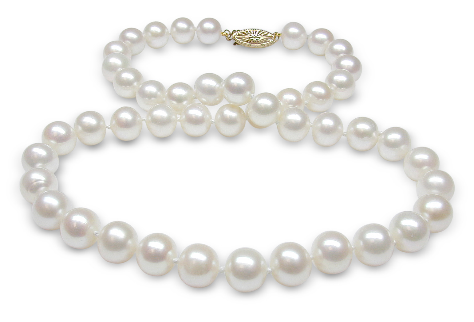 White Freshwater Cultured Pearl Necklace American Pearl