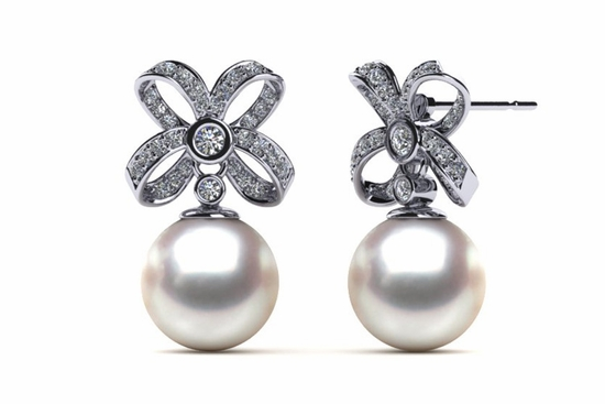 Pearl Earrings Akoya Tahitian South Sea Freshwater