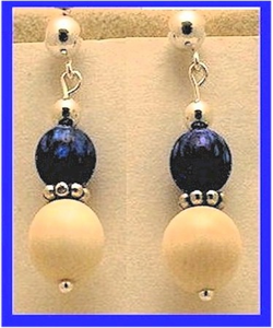 12th Century Celtic Earrings IIIShimmering Opal Bead With Mammoth Ivory Bead$79.50